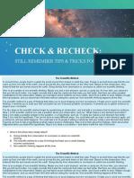 CHECK & RECHECK READING COMPREHENSION