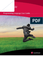 Concordance Programming Language User Guide