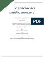Code général des impôts, annexe 1