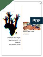 DOSSIER 3-La Problématique Géopolitique en AFRIQUE-HARIK HAFSA F1 16009649