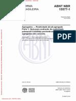 NBR 15577-1 - Agregados - Reação Alcali Agregado