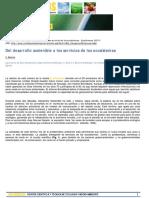 Del desarrollo sostenible a los servicios de los ecosistemas