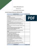 Lista de Chequeo Resolucion ICA Viveros