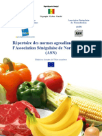 Repertoire Normes Agroalimentaires