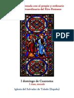 I Domingo de Cuaresma. Propio y Ordinario de la santa misa