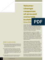 volume change response of precast concrete buildings