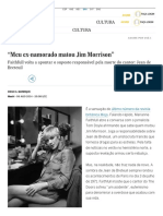 """Meu ex-namorado matou Jim Morrison"" _ Cultura _ EL PAÍS Brasil"