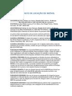 Modelo de Contrato de Aluguel Simples Maria Edilma