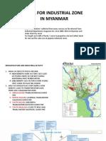 DATA FOR INDUSTRIAL ZONE IN MYANMAR