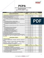 Edital Facilitado PCPA Investigador 2021