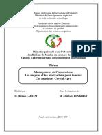 Management de l'innovation-les moyens et les motivations pour innover-cas CEVITAL Agro