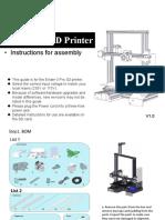 Ender-3 Assembly Instruction (V1.0)