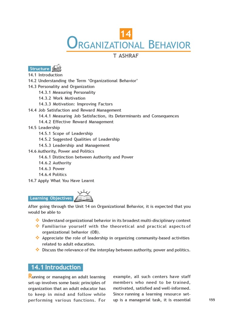 job satisfaction in organisational behaviour pdf