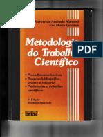 Metodologia Do Trabalho Científico - Marconi e Lakatos