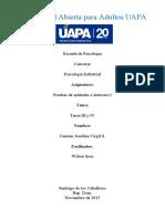 TAREA III Y IV PRUEBAS DE ACTITUDES E INTERESES I -