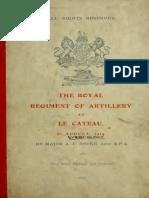 Royal Regiment of Artillery at LE CATEAU