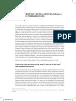 Aspectos Conceituais e Metodológicos Da Avaliação de Políticas e Programas Sociais