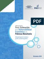 Estimacion de La Vulnerabilidad Economica a La Pobreza Monetaria