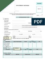 Form Biodata Karyawan RSPI (update 2020) 4 lembar-