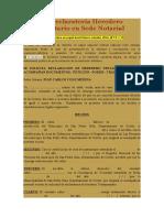 Proceso Declaratoria Heredero Testamentario en Sede Notarial