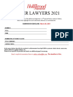 THR Power Lawyers 2021 Nomination Form
