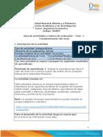 Guía de actividades y rúbrica de evaluación – Unidad 1-  Fase  1- Fundamentación del curso