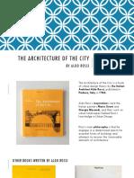 The Architecture of the City - Aldo Rossi (PDF)