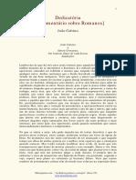 João Calvino -  Dedicatória do Comentário da Epístola aos Romanos