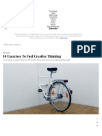 10 Exercises To Fuel Creative Thinking