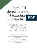 Hegel. El derecho como Wirklichkeit (realidad efectiva) y Sittlichkeit