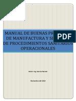 MANUAL DE BUENAS PRÁCTICAS DE MANUFACTURA Y SISTEMAS DE PROCEDIMIENTOS SANITARIOS OPERACIONALES