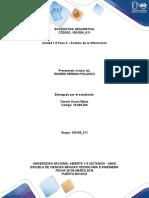 Actividad 2. Medidas Univariantes -Variable Discreta Entrega Foro