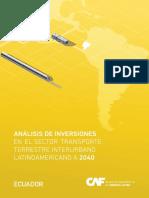 Análisis de inversiones en el sector transporte terrestre interurbano latinoamericano a 2040.