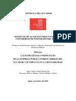 TESIS. ESTRATEGIS COMERCIALES DE LA EFEE EP Y SU RENTABILIDAD