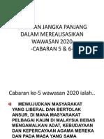 CABARAN JANGKA PANJANG DALAM MEREALISASIKAN WAWASAN 2020