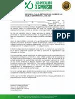 CONSENTIMIENTO INFORMADO PARA EL RETORNO A LAS CLASES DE LAS ESCUELAS DE FORMACIÓN LAGIM 2020