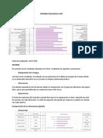INFORME PSICOLÓGICO 16PF