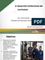 Conferencia - El director en el desarrollo institucional del curriculum (Silvia Morelli) (1)