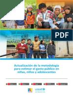 Actualización Metodología Para Estimar El Gasto Público en NNA
