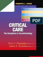 Critical Care Anesthesia