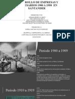 DESARROLLO DE EMPRESAS Y EMPRESARIOS 1900 A 1950