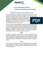 TDR Plaza Responsable de Talento Humano del Servicio Social Pasionista