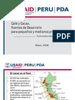 Cafe y cacao Fuentes de desarrollo - Elaborado por Usaid