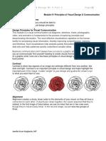 WEEK 001-002 MODULE PRINCIPLES OF VISUAL DESIGN & COMMUNICATION