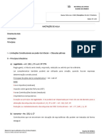 Resumo - Direito Tributario - Aula 07 a 09 - Limitacoes e Principios Tributarios - Prof. Caio Bartine