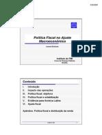 Politica Fiscal E Ajuste Macroeconomico Le Pffp2009