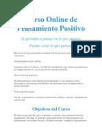 Curso Online de Pensamiento Positivo