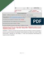 FASP Formulário de Resposta de Trabalho - Direito Internacional Publico