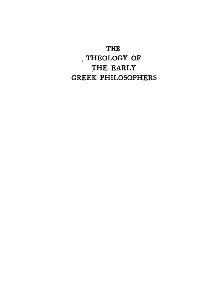 Jaeger werner theology of the early greek philosophers 1936 jaeger werner theology of the early greek philosophers 1936 neoplatonism theology fandeluxe Gallery