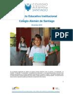 Proyecto Educativo Institucional Colegio Aleman de Santiago